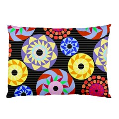 Colorful Retro Circular Pattern Pillow Case