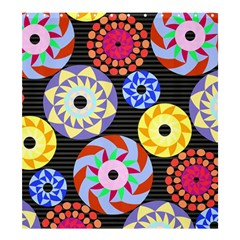 Colorful Retro Circular Pattern Shower Curtain 66  x 72  (Large)