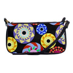 Colorful Retro Circular Pattern Shoulder Clutch Bags