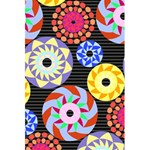 Colorful Retro Circular Pattern 5.5  x 8.5  Notebooks Back Cover Inside