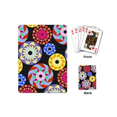 Colorful Retro Circular Pattern Playing Cards (mini)  by DanaeStudio