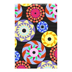 Colorful Retro Circular Pattern Shower Curtain 48  X 72  (small)  by DanaeStudio