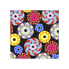 Colorful Retro Circular Pattern Acrylic Tangram Puzzle (4  X 4 ) by DanaeStudio