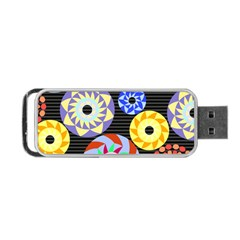 Colorful Retro Circular Pattern Portable USB Flash (One Side)