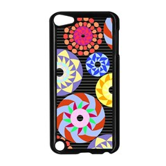 Colorful Retro Circular Pattern Apple iPod Touch 5 Case (Black)