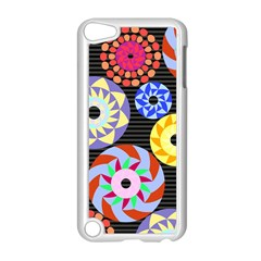 Colorful Retro Circular Pattern Apple iPod Touch 5 Case (White)