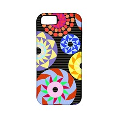 Colorful Retro Circular Pattern Apple Iphone 5 Classic Hardshell Case (pc+silicone) by DanaeStudio