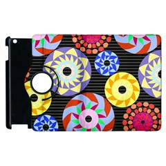 Colorful Retro Circular Pattern Apple Ipad 3/4 Flip 360 Case by DanaeStudio