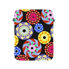 Colorful Retro Circular Pattern Apple iPad 2/3/4 Protective Soft Cases
