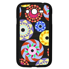 Colorful Retro Circular Pattern Samsung Galaxy Grand Duos I9082 Case (black) by DanaeStudio
