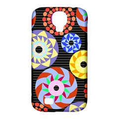 Colorful Retro Circular Pattern Samsung Galaxy S4 Classic Hardshell Case (pc+silicone) by DanaeStudio