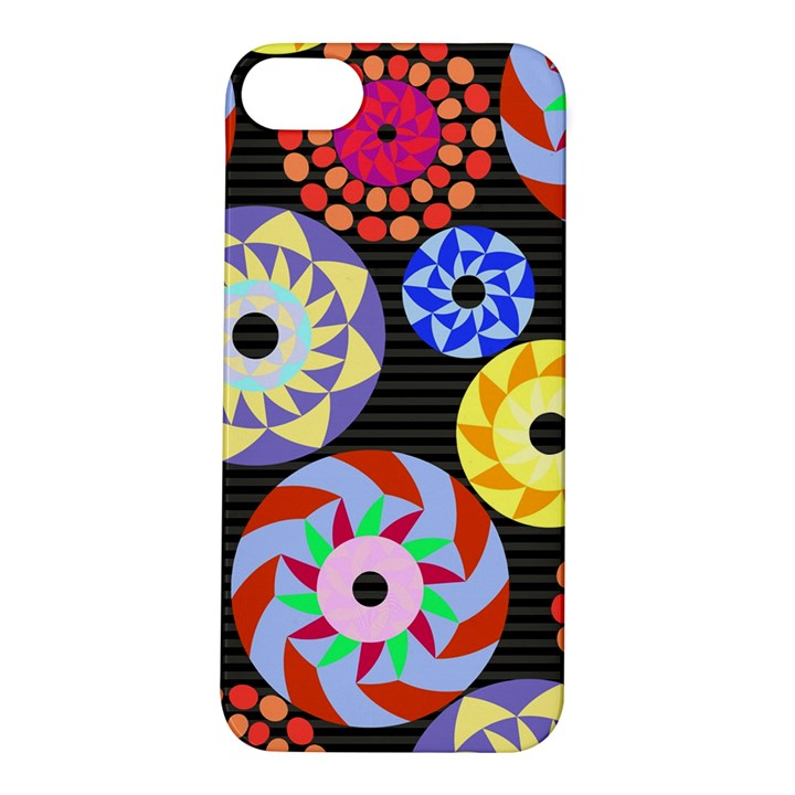 Colorful Retro Circular Pattern Apple iPhone 5S/ SE Hardshell Case
