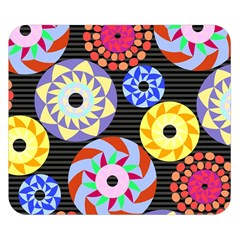 Colorful Retro Circular Pattern Double Sided Flano Blanket (small)  by DanaeStudio