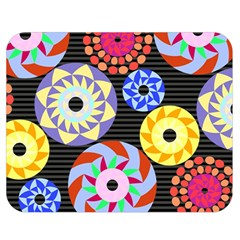 Colorful Retro Circular Pattern Double Sided Flano Blanket (medium)  by DanaeStudio