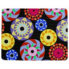 Colorful Retro Circular Pattern Jigsaw Puzzle Photo Stand (Rectangular)