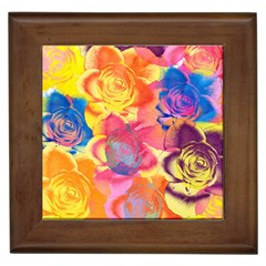 Pop Art Roses Framed Tiles
