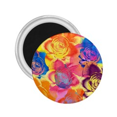 Pop Art Roses 2.25  Magnets