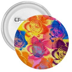 Pop Art Roses 3  Buttons
