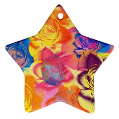 Pop Art Roses Ornament (Star)