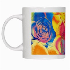 Pop Art Roses White Mugs