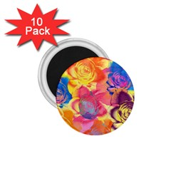 Pop Art Roses 1.75  Magnets (10 pack)