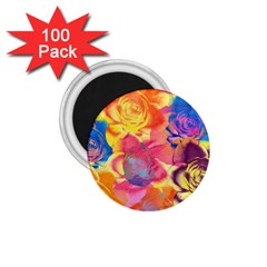 Pop Art Roses 1.75  Magnets (100 pack)