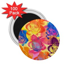 Pop Art Roses 2.25  Magnets (100 pack)