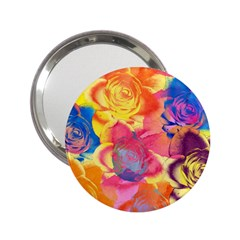 Pop Art Roses 2 25  Handbag Mirrors