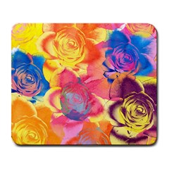 Pop Art Roses Large Mousepads