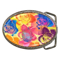 Pop Art Roses Belt Buckles