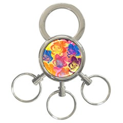 Pop Art Roses 3-Ring Key Chains
