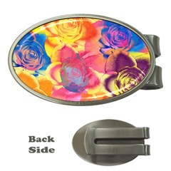Pop Art Roses Money Clips (Oval)