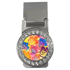 Pop Art Roses Money Clips (CZ)