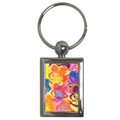 Pop Art Roses Key Chains (Rectangle)