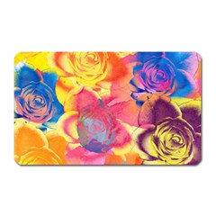 Pop Art Roses Magnet (Rectangular)