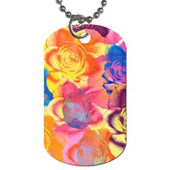 Pop Art Roses Dog Tag (One Side)