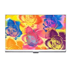 Pop Art Roses Business Card Holders