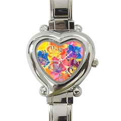 Pop Art Roses Heart Italian Charm Watch