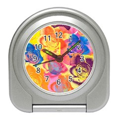 Pop Art Roses Travel Alarm Clocks