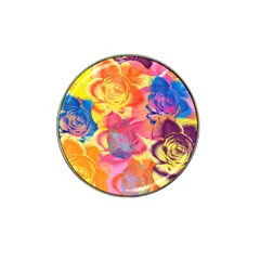 Pop Art Roses Hat Clip Ball Marker (4 pack)