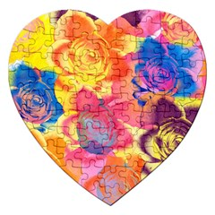 Pop Art Roses Jigsaw Puzzle (heart)