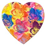 Pop Art Roses Jigsaw Puzzle (Heart) Front