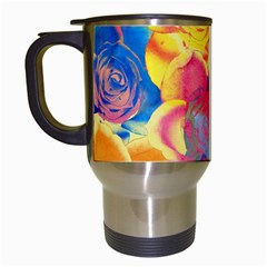 Pop Art Roses Travel Mugs (White)