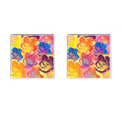 Pop Art Roses Cufflinks (Square)