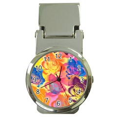 Pop Art Roses Money Clip Watches