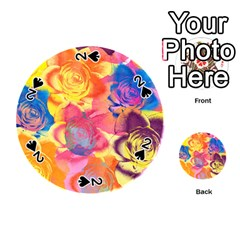 Pop Art Roses Playing Cards 54 (round)  by DanaeStudio