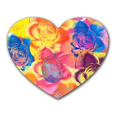 Pop Art Roses Heart Mousepads
