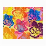 Pop Art Roses Small Glasses Cloth (2-Side) Front