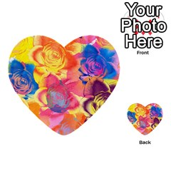 Pop Art Roses Multi Purpose Cards (heart)