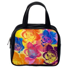 Pop Art Roses Classic Handbags (One Side)